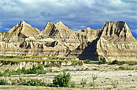 Eroded landscape of the Stronghold Unit.  Badlands National Park, South Dakota.