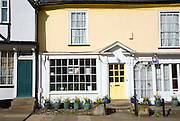 Hill House Hall bed and breakfast, Georgian shop fronts on Market Hill, Woodbridge, Suffolk