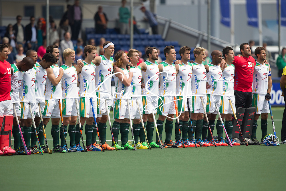 THE HAGUE - Teamfoto. National team of South Africa. South Africa vs New Zealand during the Rabobank World Cup Hockey 2014. PHOTO KOEN SUYK