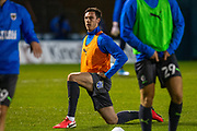 AFC Wimbledon defender Ben Heneghan, making his debut, warming-up before the EFL Sky Bet League 1 match between Gillingham and AFC Wimbledon at the MEMS Priestfield Stadium, Gillingham, England on 24 November 2020.