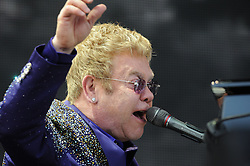 © Licensed to London News Pictures. 31/05/2015<br />  Elton John on stage tonight (31.05.2015)at the Kent County Show Ground Detling,Kent.<br /> <br />  <br /> (Byline:Grant Falvey/LNP)