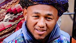 A portrait of a Berber stallholder in the medina in Marrakech, Morocco, North Africa<br /> <br /> <br /> (c) Andrew Wilson | Edinburgh Elite media