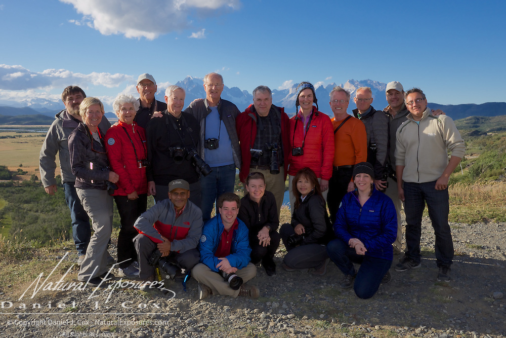 The group photo in Torres del Paine National Park, Patagonia, Chile.