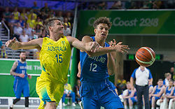 Handout photo dated 14/04/2018 provided by Jeff Holmes of Scotland's Sean Nealon-Lino in the Men's Semifinal Basketball at the Gold Coast Convention and Exhibition Centre during day ten of the 2018 Commonwealth Games in the Gold Coast, Australia. Issue date: Saturday April 14, 2018. See PA story COMMONWEALTH Basketball. Photo credit should read Jeff Holmes/PA Wire. NOTE TO EDITORS: This handout photo may only be used in for editorial reporting purposes for the contemporaneous illustration of events, things or the people in the image or facts mentioned in the caption. Reuse of the picture may require further permission from the copyright holder.