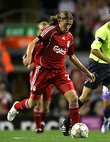 Photo: Paul Thomas.<br />Liverpool v Toulouse. UEFA Champions League Qualifying. 28/08/2007.<br /><br />New player Lucas of Liverpool.