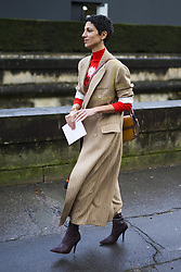 March 4, 2018 - Paris, France - Yasmin Sewell is seen after the Valentino show at Invalides on March 4, 2018 in Paris, France. (Credit Image: © Nataliya Petrova/NurPhoto via ZUMA Press)