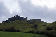 Carreg Cennen Castle on 18th February 2019 in Trapp, Powys, Wales, United Kingdom. The castle is dated back to the 13th century, although there is archeological evidence of Roman and prehistoric occupation on the site. The castle has been in a ruinous state since 1462 and is under the care of Cadw, the Welsh Government historic environment service.