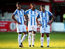Tom Ince, Kasey Palmer and Nahki Wells of Huddersfield Town - Mandatory by-line: Robbie Stephenson/JMP - 12/07/2017 - FOOTBALL - Wham Stadium - Accrington, England - Accrington Stanley v Huddersfield Town - Pre-season friendly