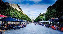 Tourists eating out in the Place Drouet d'Erlon, Reims, France<br /> <br /> (c) Andrew Wilson | Edinburgh Elite media