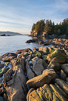 Wildcat Cove looking out to Samish Bay and the San Juan Islands, Larrabee State Park Washington