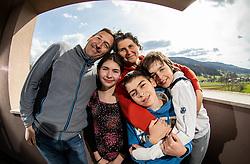 Rupena family, on April 9, 2021, in Moravce, Slovenia. Photo by Vid Ponikvar / Sportida