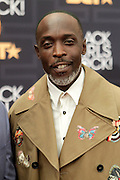 April 1, 2016- Newark, NJ: United States- Actor Michael K. Williams attends the 2016 Black Girls Rock Red Carpet Arrivals held at NJPAC on April 1, 2016 in Newark, New Jersey. Black Girls Rock! is an annual award show, founded by DJ Beverly Bond, that honors and promotes women of color in different fields involving music, entertainment, medicine, entrepreneurship and visionary aspects.   (Terrence Jennings/terrencejennings.com)