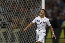 June 28, 2017 - Kazan, Russia - Alexis Sanchez of Chile national team reacts during FIFA Confederations Cup Russia 2017 semi-final match between Portugal and Chile at Kazan Arena in June 28, 2017 in Kazan, Russia. (Credit Image: © Mike Kireev/NurPhoto via ZUMA Press)