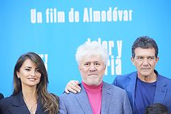 March 12, 2019 - Madrid, Madrid, Spain - Penelope Cruz, Pedro Almodovar, Antonio Banderas attends 'Dolor y Gloria' Photocall at Villamagna Hotel on March 12, 2019 in Madrid, Spain (Credit Image: © Jack Abuin/ZUMA Wire)