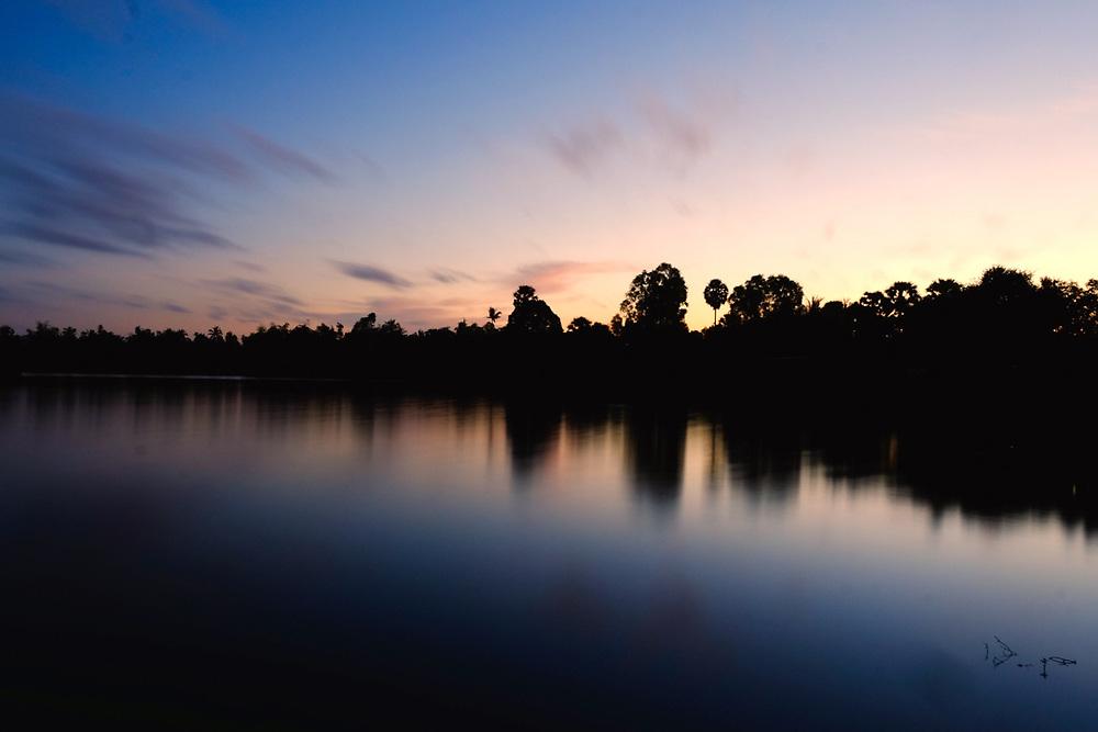 Sunrise on Kampot River, Cambodia. <br /> Photo by Lorenz Berna