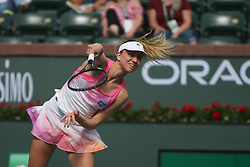 March 9, 2019 - Indian Wells, CA, U.S. - INDIAN WELLS, CA - MARCH 09: Mona Barthel (GER) serves during the BNP Paribas Open on March 9, 2019 at Indian Wells Tennis Garden in Indian Wells, CA. (Photo by George Walker/Icon Sportswire) (Credit Image: © George Walker/Icon SMI via ZUMA Press)