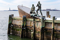 US, New York City. Battery Park located at the southern tip of Lower Manhattan. American Merchant Mariners' Memorial.