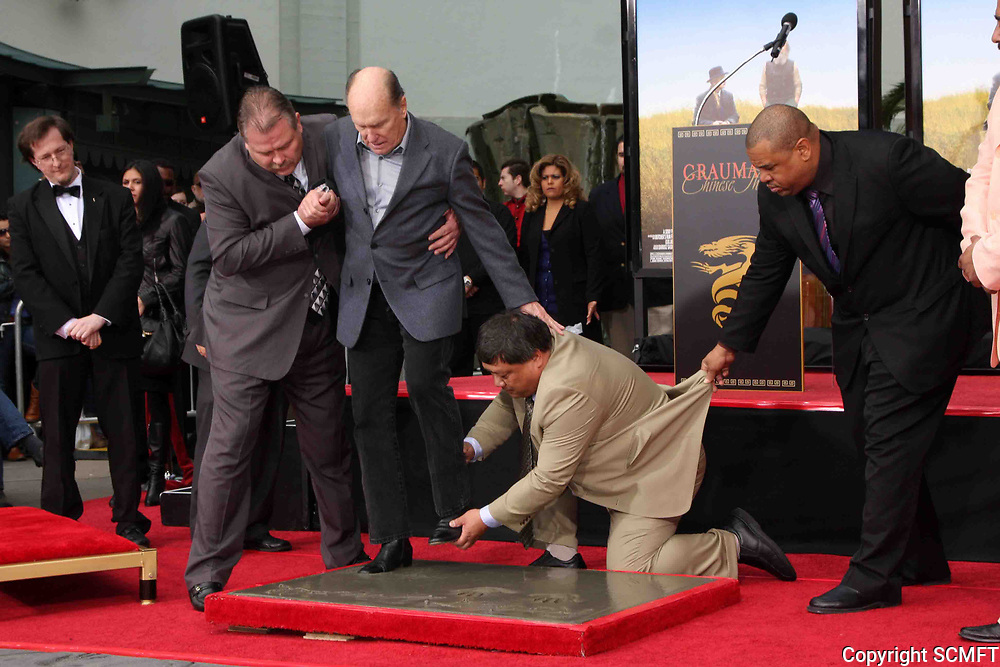 1/5/2011 Robert Duvall's hand/footprint ceremony at the Chinese Theater