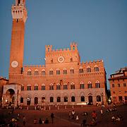 Plazza del Campo, in the medieval city of Siena, Toscana. Italy.