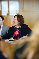 Pictured: <br /> Scottish Labour leader Kezia Dugdale, MSP,  visited Standard Life today in Edinburgh to meet staff at the start of Apprenticeship Week.<br /> <br /> Ger Harley | EEm 6 March 2017