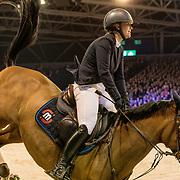 NLD/Amsterdam/20190126 - Prinses Beatrix bezoekt Jumping Amsterdam 2019, Springruiter