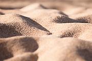 The grainy sand at Waimea Bay on the North Shore of Oahu.