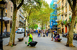 Street view - Passeig del Born, Barcelona, Catalonia, Spain<br /> <br /> (c) Andrew Wilson | Edinburgh Elite media