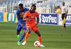 Polokwane City midfielder Wiseman Maluleke against Cape Town City in an MTN8 quarter-final match at the Cape Town Stadium on August 12, 2017 in Cape Town, South Africa.
