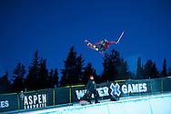 Ayana Onozuka during Women's Ski Superpipe Practice at 2014 X Games Aspen at Buttermilk Mountain in Aspen, CO. ©Brett Wilhelm/ESPN