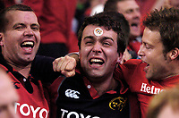 Photo: Richard Lane.<br />Biarritz v Munster. Heineken Cup Final. 20/05/2006.<br />Munster fans in tears as they celebrate their teams victory.