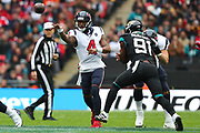 Houston Texan's quarterback, Deshaun Watson (4) during the NFL game between Houston Texans and Jacksonville Jaguars at Wembley Stadium in London, United Kingdom. 03 November 2019