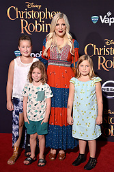 Tori Spelling attends the premiere of Disney's 'Christopher Robin' at Walt Disney Studios on July 30, 2018 in Burbank, Los Angeles, CA, USA. Photo by Lionel Hahn/ABACAPRESS.COM