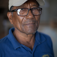 Santos Carrazco Burgos, member of the board of Fairtrade-certified BOS, an organic banana producer organisation in Salitral, Piura, Peru.