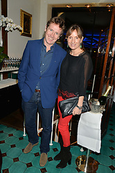 EMILY OPPENHEIMER and JOHNNY HORNBY at a dinner in honour of Christy Turlington hosted by Porter magazine at Mr Chow, Knightsbridge, London on 18th November 2014.
