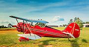 Ron Alexander's WACO, photographed at Peachstate Aerodrome, Near Williamson, Ga.