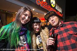 Mooneyes Yokohama Hot Rod & Custom Show after-party at Mooneyes headquarters. Yokohama, Japan. December 7, 2015.  Photography ©2015 Michael Lichter.