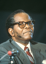 Sep 01, 1986; Harare, ZIMBABWE; South African leader OLIVER TAMBO, national chairpserson of the African National Congress @ Non-Aligned Meeting in Harare.  (Credit Image: © Piers Cavendish/ZUMAPRESS.com)