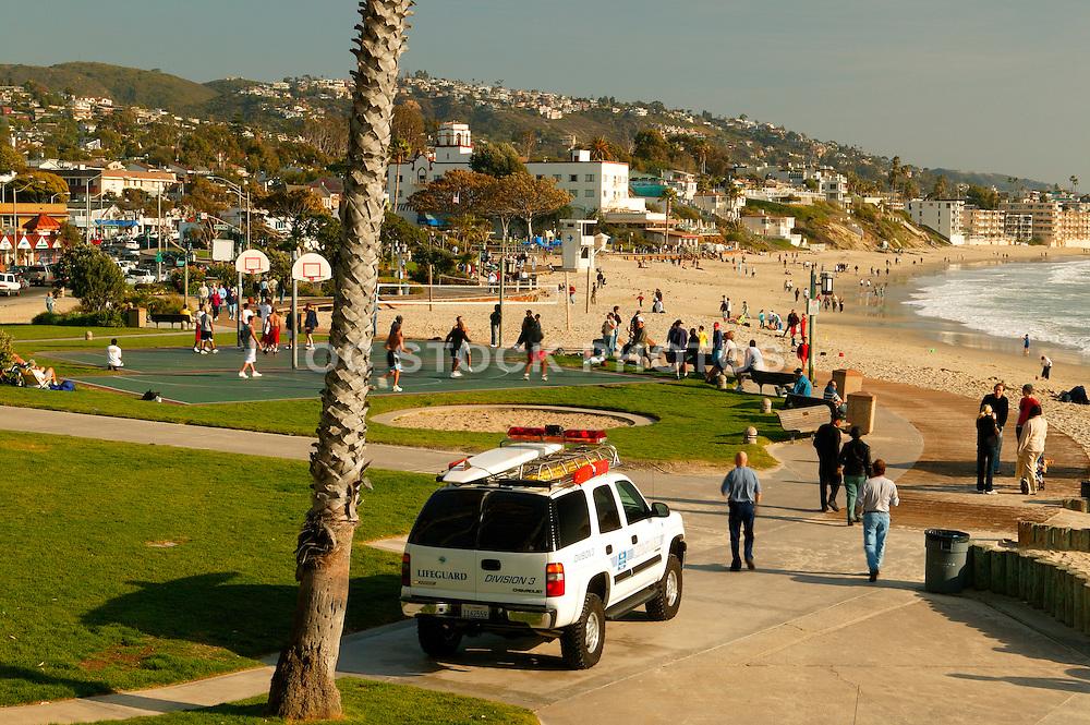 Main Beach Activities at Laguna Beach, California