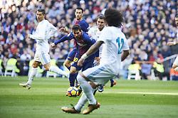 December 23, 2017 - Madrid, Spain - Lionel Messi (forward; Barcelona), Mateo Kovacic (midfielder; Real Madrid) in action during La Liga match between Real Madrid and FC Barcelona at Santiago Bernabeu on December 23, 2017 in Madrid (Credit Image: © Jack Abuin via ZUMA Wire)