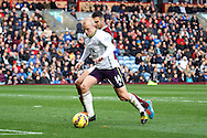 Everton's Steven Naismith goes past Burnley's Jason Shackell. Barclays Premier league match, Burnley v Everton at Turf Moor in Burnley, Lancs on Sunday 26th October 2014.<br /> pic by Chris Stading, Andrew Orchard sports photography.