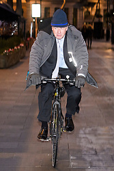 © Licensed to London News Pictures. 14/01/2019. London, UK. Brexit campaigner BORIS JOHNSON arrives at the studios of LBC radio in London for a phone in radio show. Photo credit: Ben Cawthra/LNP