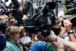Attorney Gloria Allred gives a reaction as the defense rests on the sixth day of the Bill Cosby sexual assault trial, in Norristown, Pennsylvania, on June 12, 2017.