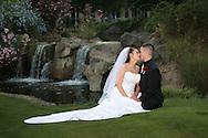 Photographer: Kevin Bartram.Senft-Kreutzinger 06-27-2008.Mayumi Senft and Evan Kreutzinger at their wedding at The Nines in Brentwood, California.