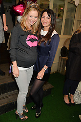 Left to right, MARISSA HERMER and LOHRALEE ASTOR at a ladies Valentine's Breakfast to launch the new healthy food menu at royal favourite restaurant Bumpkin, 119 Sydney Street, London on 14th February 2014.