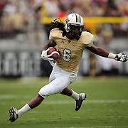 UCF Knights wide receiver Rannell Hall (6)runs  during an NCAA football game between the South Carolina Gamecocks and the Central Florida Knights at Bright House Networks Stadium on Saturday, September 28, 2013 in Orlando, Florida. (AP Photo/Alex Menendez)