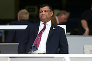 Tony Fernandes, the QPR Chairmen looks on from the stand . Skybet EFL championship match, Queens Park Rangers v Leeds United at Loftus Road Stadium in London on Sunday 7th August 2016.<br /> pic by John Patrick Fletcher, Andrew Orchard sports photography.