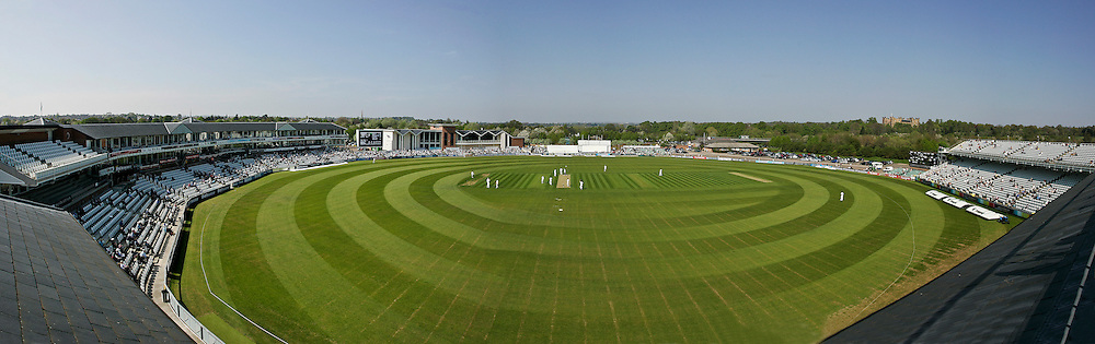 The Emirates Durham International Cricket Ground, Chester-Le-Street, Durham. Taken during day one of the 4 day LV= County Championship match between Durham CCC and Sessex CCC. 8 images stiched together to great one panaramic.