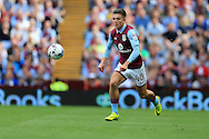 Jack Grealish of Aston Villa in action. .EFL Skybet championship match, Aston Villa v Rotherham Utd at Villa Park in Birmingham, The Midlands on Saturday 13th August 2016.<br /> pic by Andrew Orchard, Andrew Orchard sports photography.