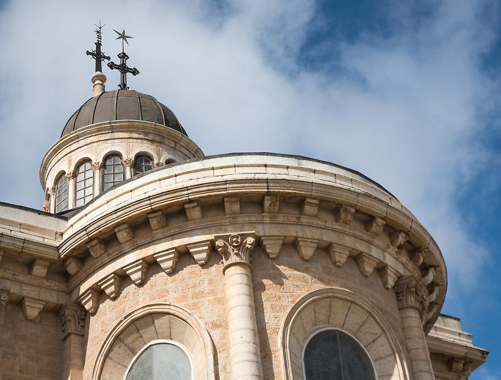 1 March 2020, Bethlehem: The Evangelical Lutheran Christmas Church in Bethlehem.