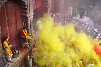 Inde, fete de Holi, Fete de la couleur et du printemps. // India, Holi festival, color and spring festival.